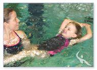 Rückenschwimmtraining in der Schwimmschule Beluga